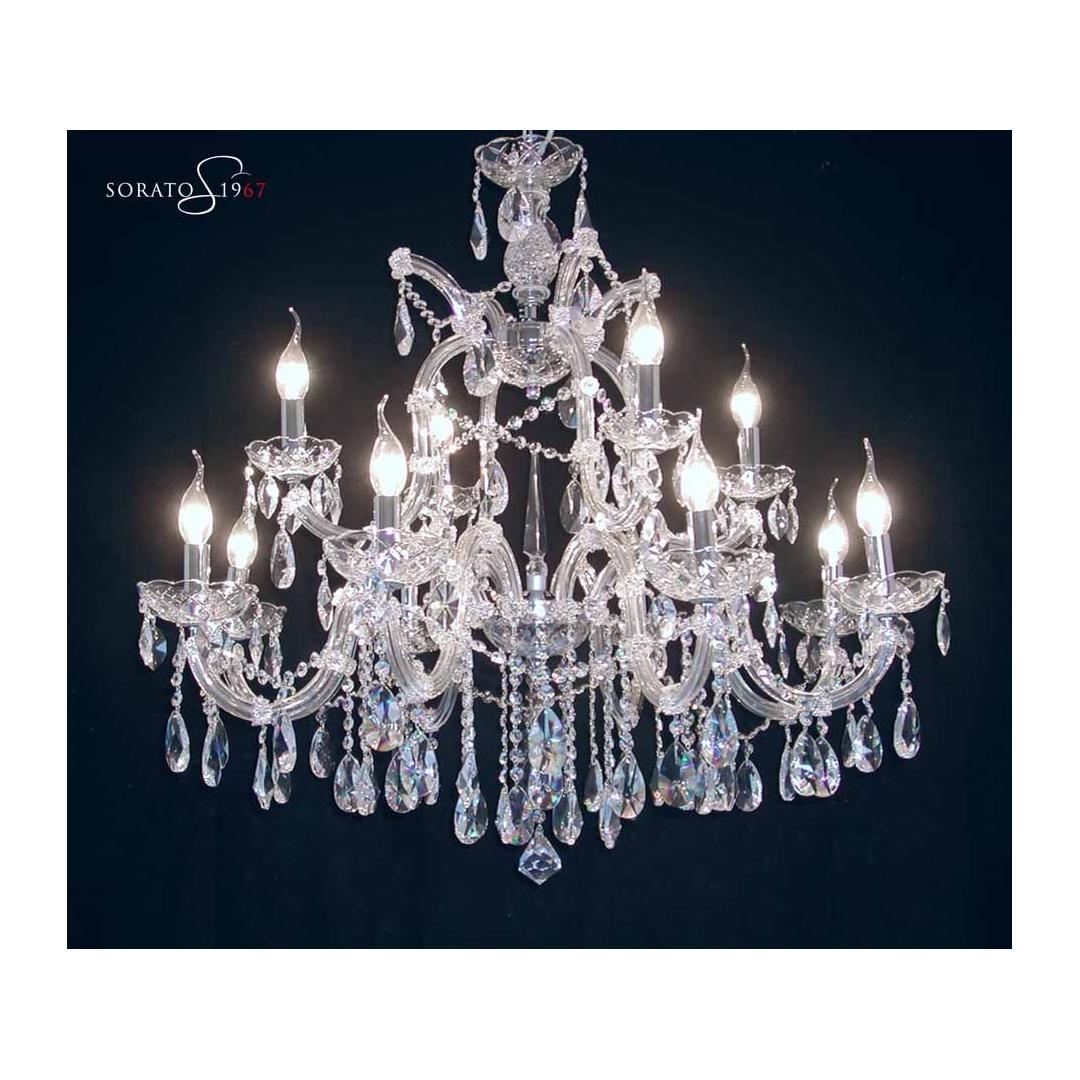 lampadari maria teresa : Home Lampadari Murano > Maria Teresa cristallo 8+4 luci