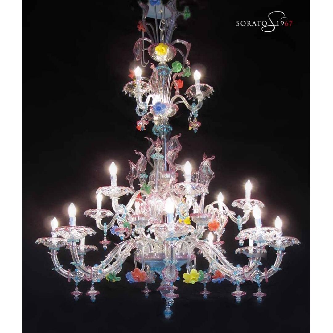 Rezzonico multicolor 17 luci
