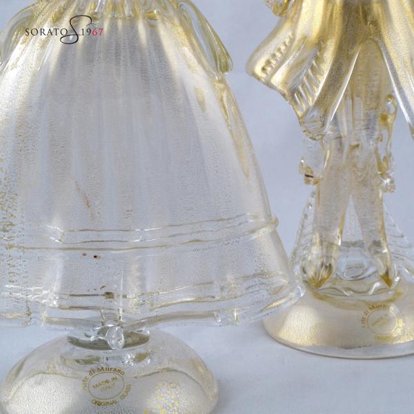 Coppia Goldoniana vetro murano
