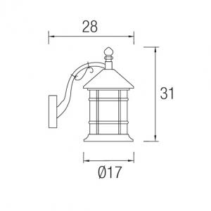 Lampade per esterni Forlight Siros PX-0024-0XI