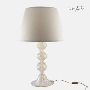 Vendramin lampada tavolo vetro Murano cristallo oro