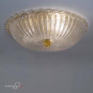 Loredan Plafoniera Murano D.58 fiore oro