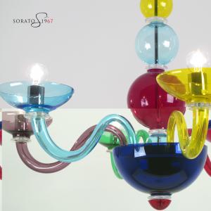 Matisse lampadario Murano multicolor 6 luci