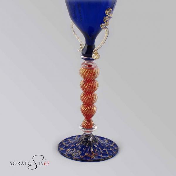 Calice Murano Sandolo Blue