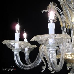 Bellini lampadario Murano 8 luci