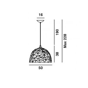 Foscarini Diesel Rock sospensione dimensioni