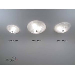 Plafoniera vetro Murano Canal cristallo