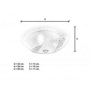 Plafoniera Canal cristallo dimensioni