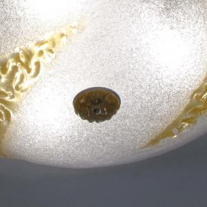 Plafoniera vetro Murano Canal ambra