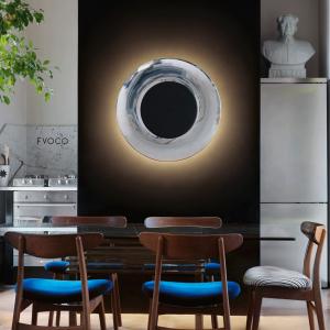 Fontana Arte Lunaire alluminio_nero