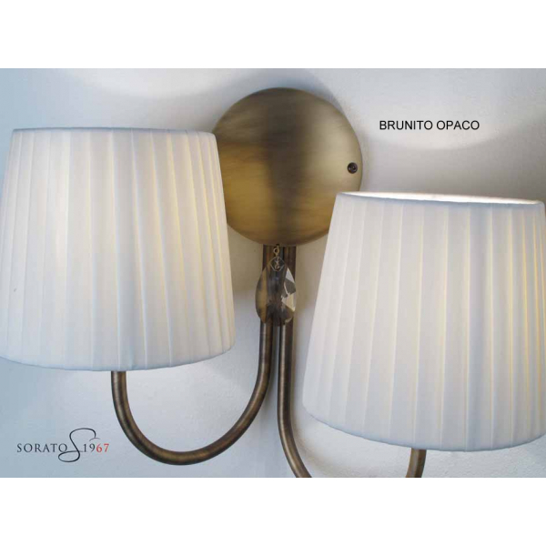 Nantes Applique 2 luci con paralumi plissettati