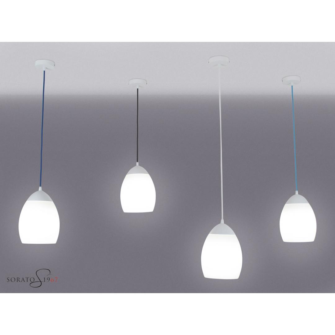 Cavi Illuminazione Colorati: Sistema di sospensione bolle febo magazzini basi cromate cavi colorati.