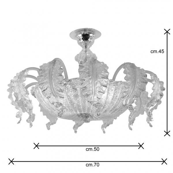 Loredan fogliata 70 plafoniera dimensioni