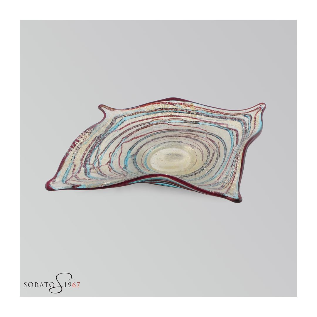 Centrotavola a foglia vetro Murano