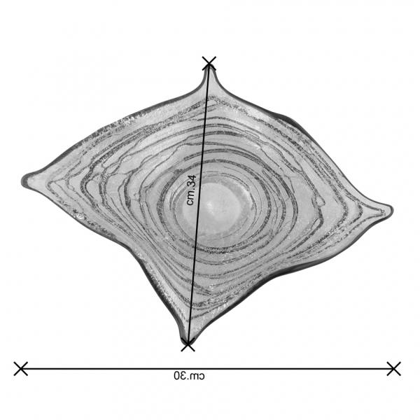 Centrotavola vetro Murano dimensioni