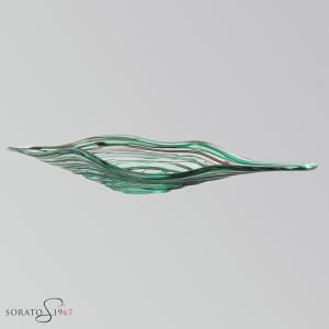 Foglia Murano fili verdi e marrone