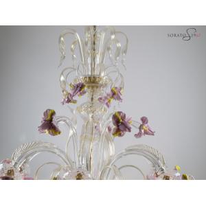 Monet lampadario vetro Murano particolare cimiero
