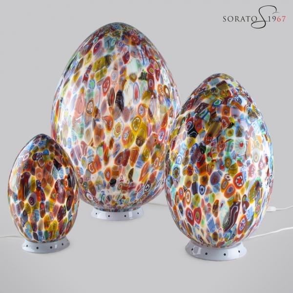 Uovo vetro soffiato con murrine