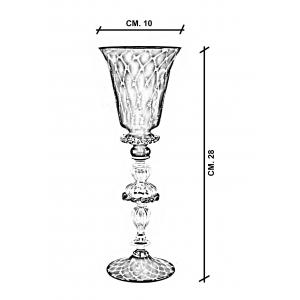 Calice vetro Murano Caicio dimensioni