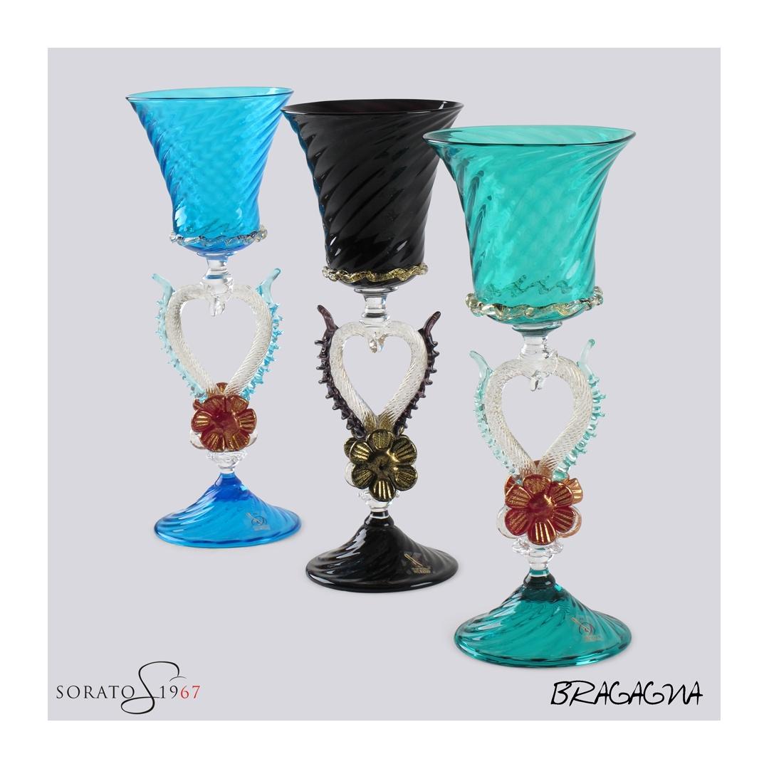 Calice vetro Murano Bragagna