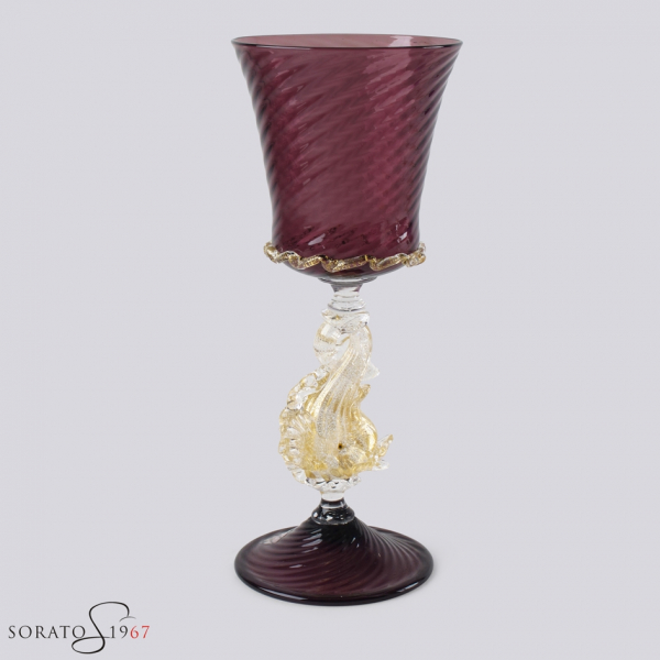 Calice vetro Murano Rascona