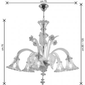 Pinturicchio lampadario vetro Murano dimensioni