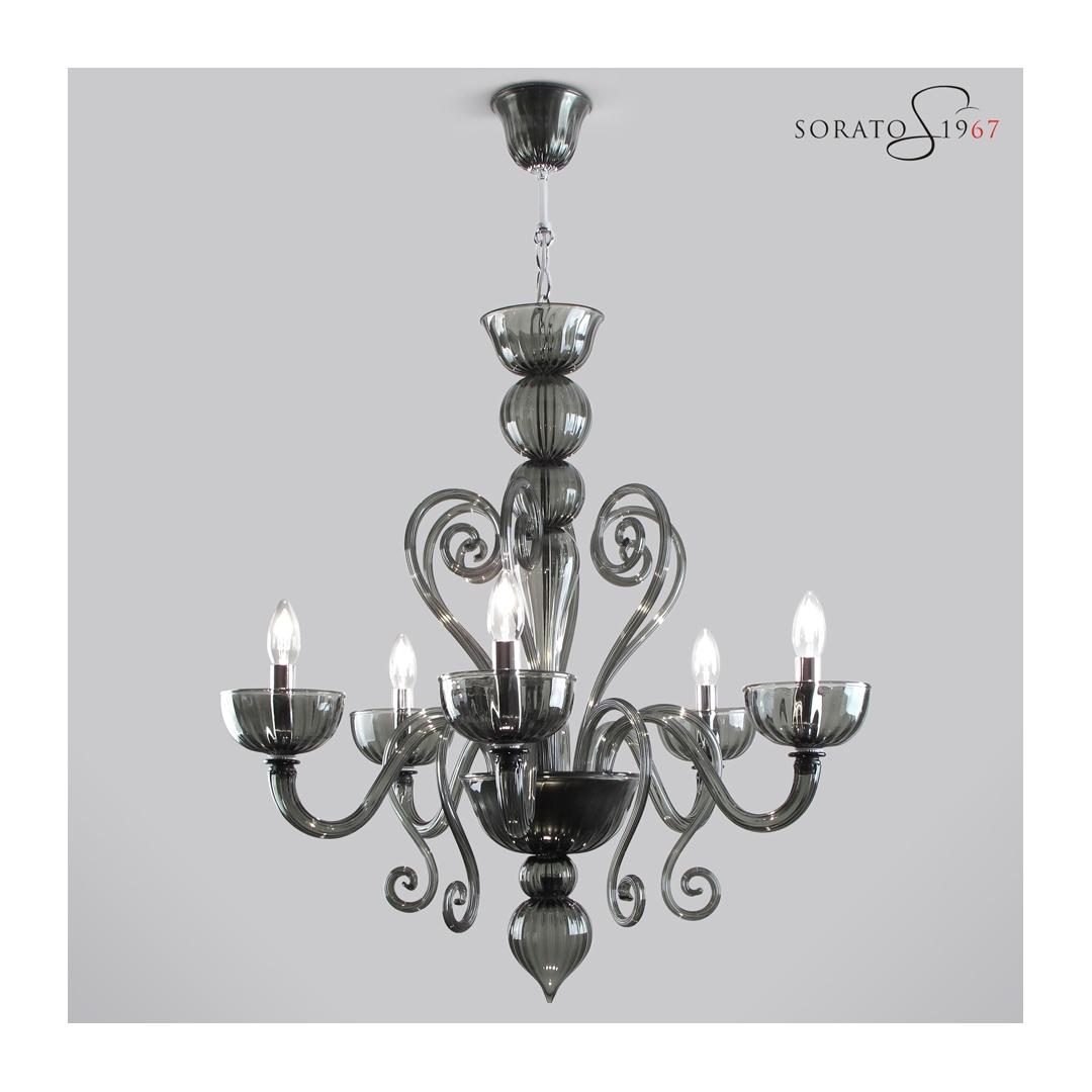 Rubens lampadario vetro Murano 5 luci