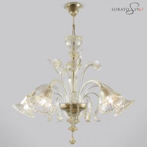 Raffaello lampadario Murano oro 5 luci