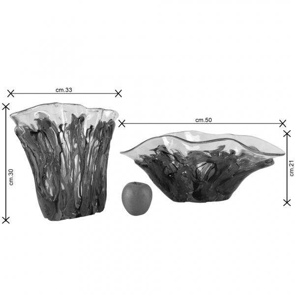 Allegria vaso e centrotavola Murano dimensioni