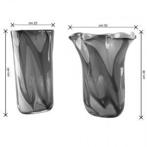 Arlequin vaso e centrotavola Murano dimensioni
