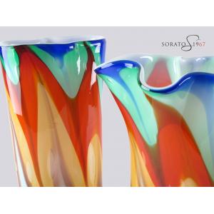 Arlequin vaso e centrotavola vetro Murano