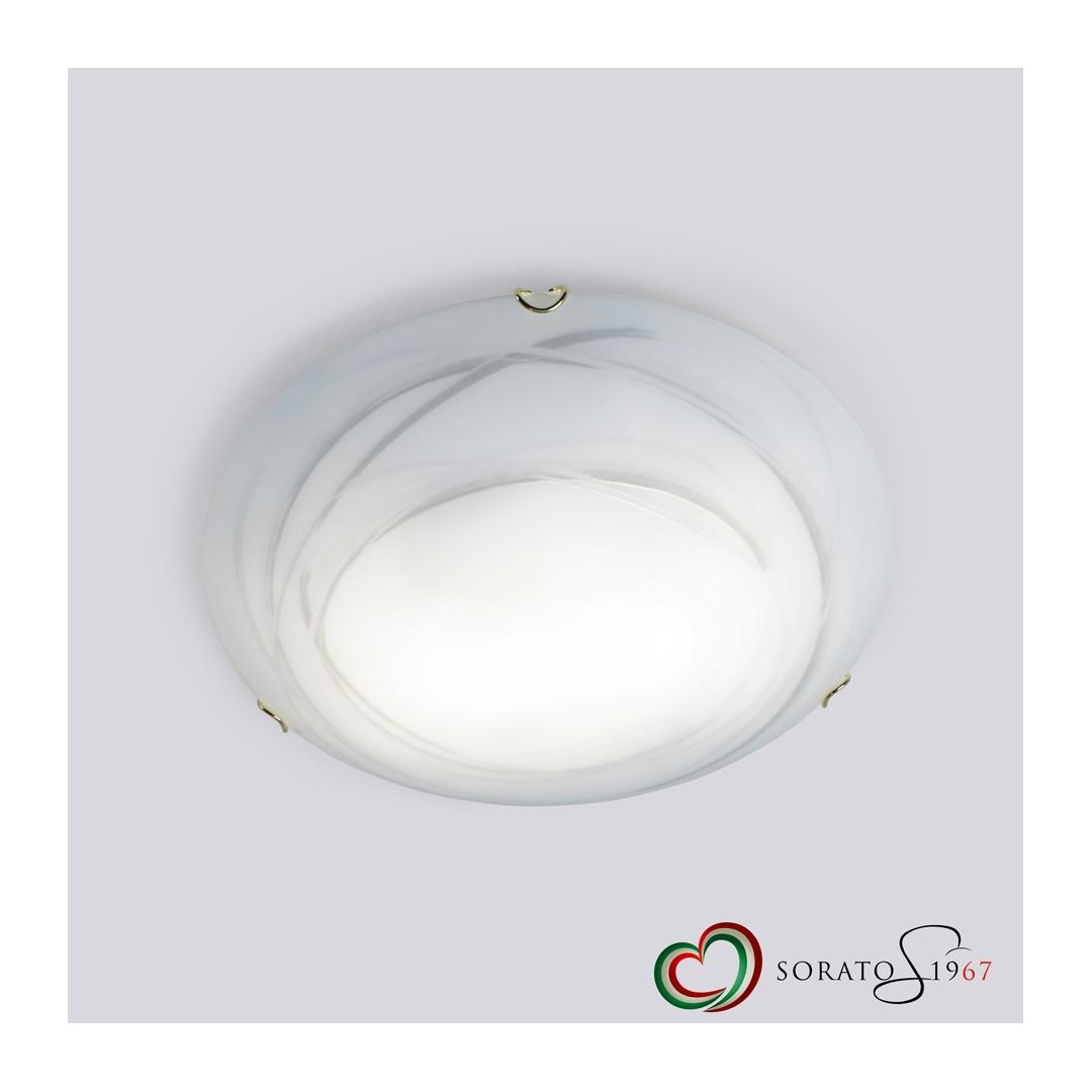 Plafoniere Vetro Trasparente : Vortice plafoniera in vetro curvo tre dimensioni
