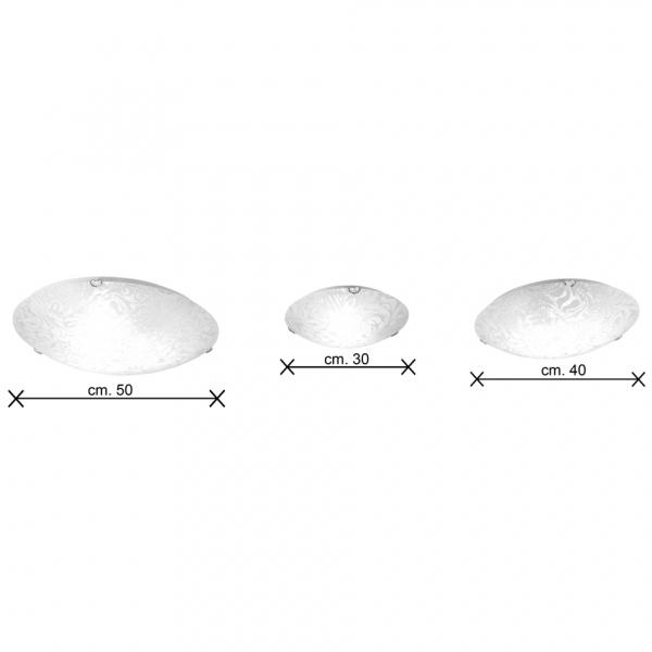 Vortice plafoniera vetro dimensioni