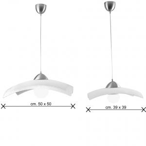 Brine bianche sospensione vetro dimensioni