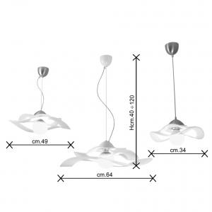Valzer sospensione vetro dimensioni