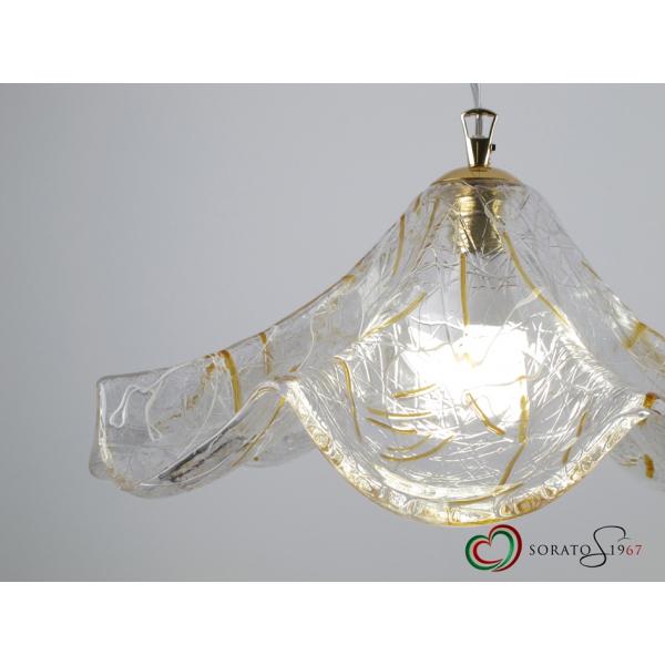 Drappo sospensione vetro Murano