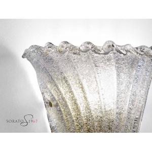 Loredan Applique vetro murano bordo oro