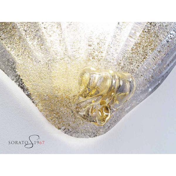 Contarini applique vetro Murano particolare applicazione