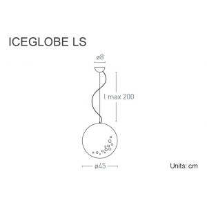 Iceglobe sospensione 30