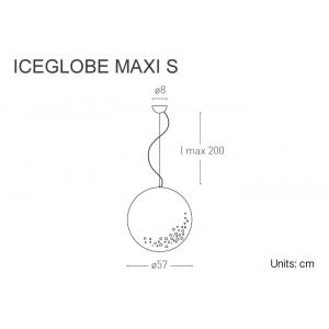 Iceglobe sospensione 45