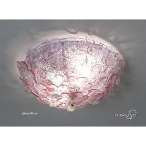 Primavera plafoniera a fiori Murano